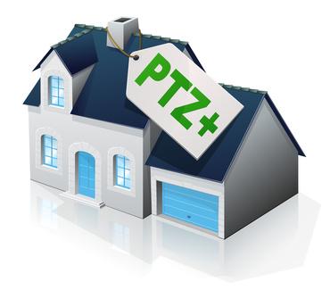 Pavillon admissible au PTZ+ (reflet)