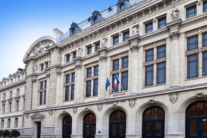 France. Paris. University Sorbonne building